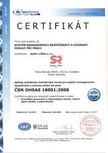 Certifikat-CSN-OHSAS-18001-2008